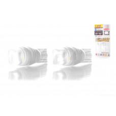Лампа диодная поворотов безцокольная  T15  1 кристалл, 2шт, белая  (керамика)