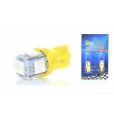 """Лампа диодная поворотов безцокольная  T15  5 кристаллов, 2шт, желтая  """"LIPAI"""""""