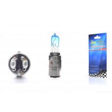 """Лампа фары  BA20D 12V 35/35W  синяя  """"LIPAI"""""""