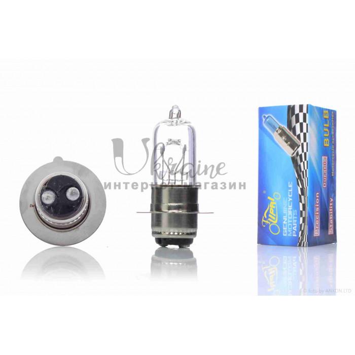 """Лампа фары  P15D-25-1  12V18/18W  белая  """"LIPAI""""  (1 ус)"""
