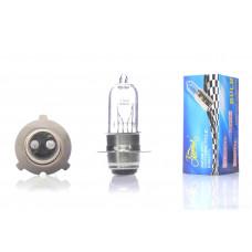 """Лампа фары  P15D-25-3  12V18/18W  белая  """"LIPAI""""  (3 уса)"""