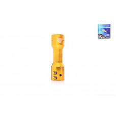 Крепление открытого руля на скутера (вынос)  22mm, желтый